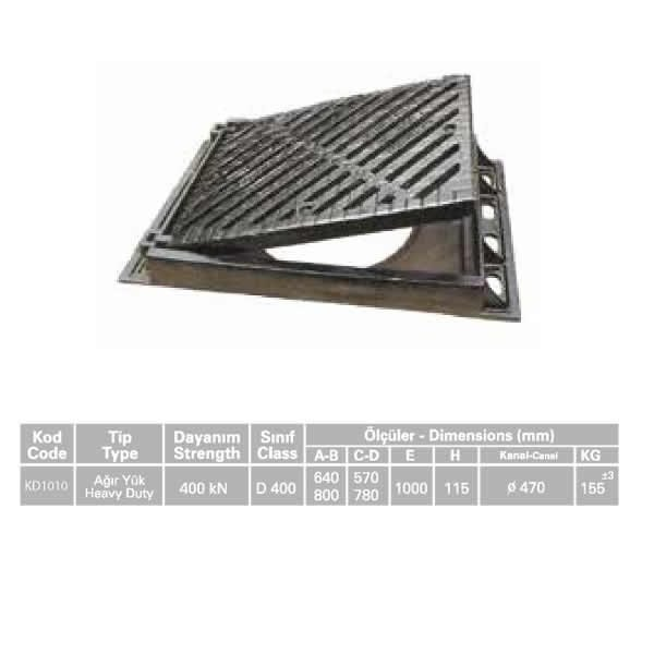 KD1010 Ductile Iron Stormwater Channel Grid