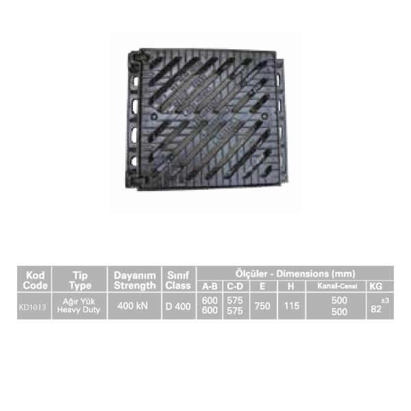 KD1013 Ductile Iron Stormwater Channel Grid